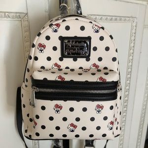 Loungefly Hello Kitty Polka Dot Backpack NEW